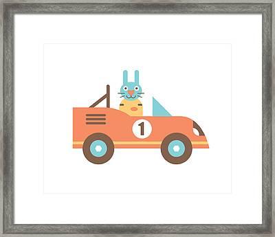 Rabbit Racer Framed Print
