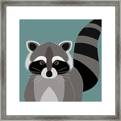 Raccoon Forest Bandit Framed Print by Antique Images