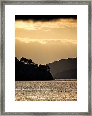 Raccoon Strait Framed Print by John Hamlon