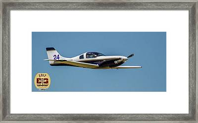 Race 24 Fly By Framed Print
