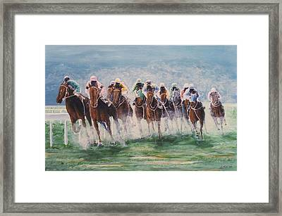 Race #4 Framed Print by G Jay Jacobs