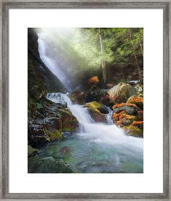 Framed Print featuring the photograph Race Brook Falls 2017 by Bill Wakeley