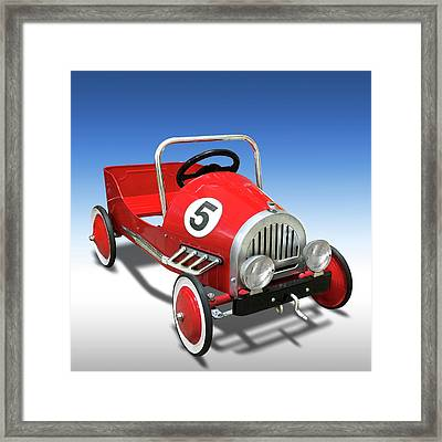 Framed Print featuring the photograph Race Car Peddle Car by Mike McGlothlen