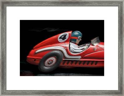 Race Car Framed Print by Rudy Umans
