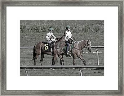 Race Day Framed Print by Betsy Knapp