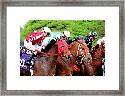Race Day Framed Print by Nathan Grisham