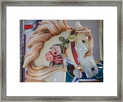 Race For The Brass Ring Framed Print by Richard Mansfield