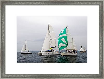 Race In The Clouds Framed Print by Tom Dowd