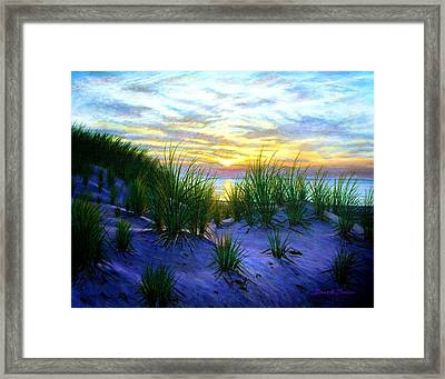 Race Point Dune Sunset Framed Print by Bruce Dumas