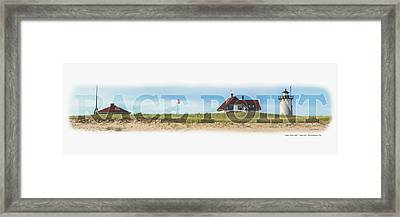 Race Point Light Framed Print by Brian Caldwell