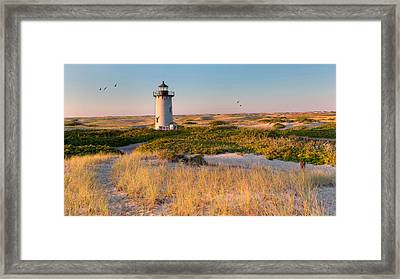 Race Point Light Sand Dunes Framed Print by Bill Wakeley