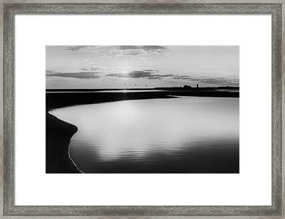 Race Point Silhouette Bw Framed Print by Bill Wakeley