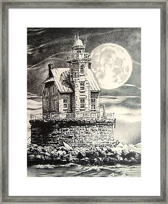 Race Rock Light House Framed Print by Michael Lee Summers