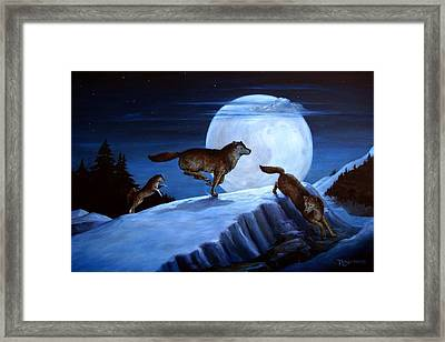 Race The Moon Framed Print by Tanja Ware