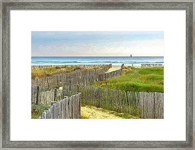 Race To The Beach Framed Print