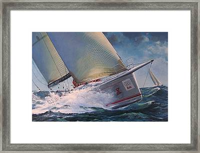 Race To The Finish - Wild Oats X Framed Print