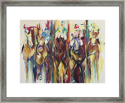 Race Track Framed Print by Heather Roddy
