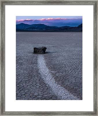 Race Treak Playa Framed Print by Peter McCracken