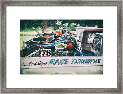 Race Triumphs Framed Print by Tim Gainey