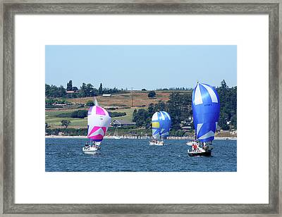Race Week 2007 Bo1087 Framed Print by Mary Gaines