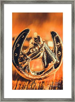 Racehorse Luck Framed Print by Jorgo Photography - Wall Art Gallery