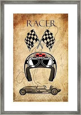 Racer Framed Print by Greg Sharpe