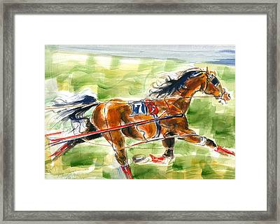 Racer Framed Print by Mary Armstrong