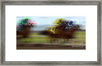 Racetrack Dreams 1 Framed Print by Bob Christopher