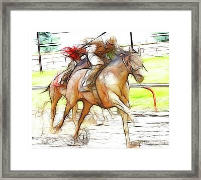 Racetrack Dreams 12 Framed Print by Bob Christopher