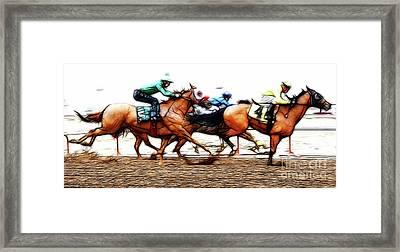 Racetrack Dreams 6 Framed Print by Bob Christopher