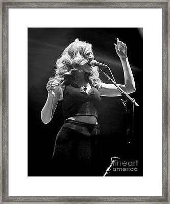 Rachael Price With Jorma And Jack Celebrate 50 Years Of Jefferson  Framed Print
