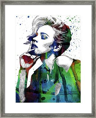 Rachel Mcadams Framed Print by Mihaela Pater