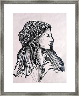Rachel Framed Print by Mindy Newman