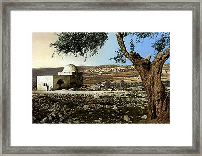 Rachel Tomb In Bethlehem Framed Print by Munir Alawi