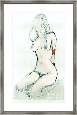 Rachel's Red Ropes - Erotic Art Framed Print