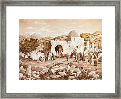 Rachel's Tomb Pilgrims Framed Print by Aryeh Weiss