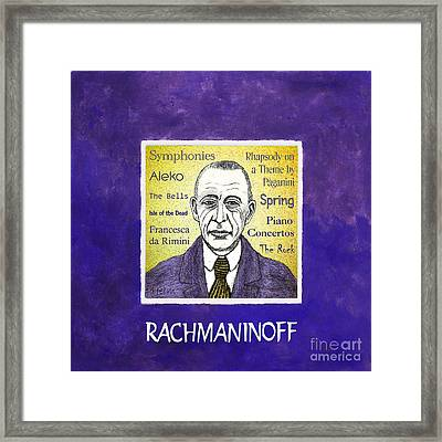 Rachmaninoff Framed Print by Paul Helm