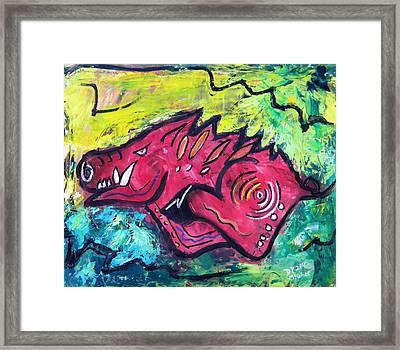 Racin' Red Framed Print by David McGhee