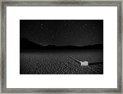 Framed Print featuring the photograph Racing Across The Playa At Night by Peter Thoeny