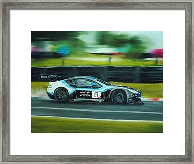 Racing Car Framed Print by Nolan Clark