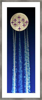 Racing For The Moon Framed Print by Chris Lord