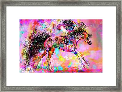 Racing For Time Framed Print