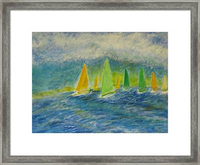 Racing Home Framed Print by John Scates