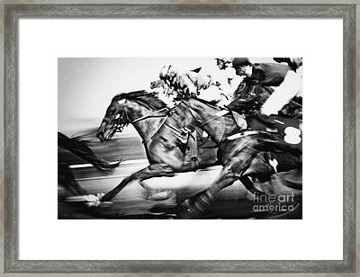 Racing Horses Framed Print