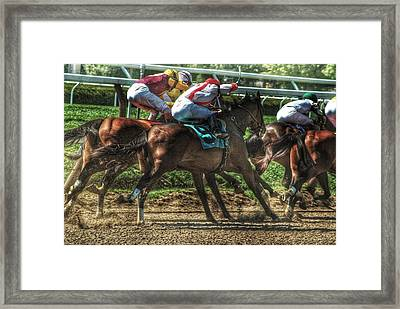 Racing Framed Print