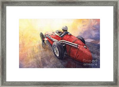 Racing Light Maserati 250 F Framed Print by Yuriy  Shevchuk