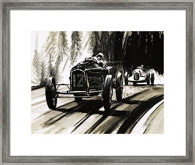 Racing On The Nurburgring Framed Print