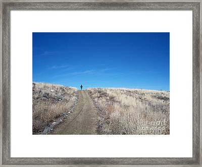 Racing Over The Horizon Framed Print by Heather Kirk