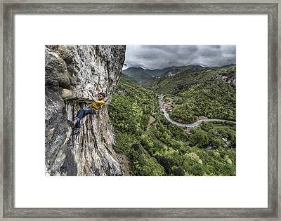 Racing The Storm Framed Print by James Rushforth