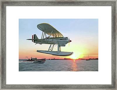Racing The Sun Framed Print